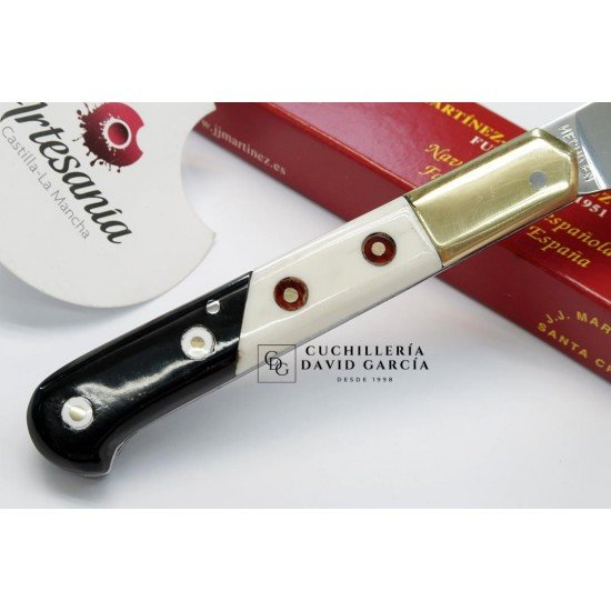 JJ.Martinez Cabritera Combined Knife 38 Polished Deer / Buffalo Carbon Steel