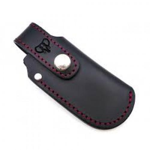 Funda Cudeman 604N Cuero Negro pespunte rojo